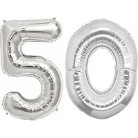 50 Yaş Gümüş Folyo Balon 90cm