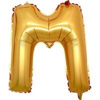 M Harf Altın Folyo Balon 90cm