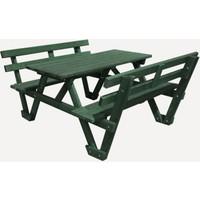 Garden Mobilya Sırt Dayamalı Piknik Masası 8 Kişilik Yeşil