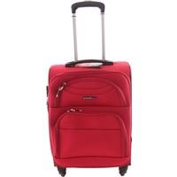 Ççs 409 4 Tekerlekli Orta Boy Kumaş Valiz Kırmızı