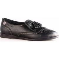 Mammamia 480B Kadın Püsküllü Oxford Ayakkabı Siyah Flotur