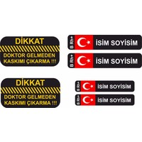 Sticker Masters Kan Grubu Kask Set Sticker Etiket
