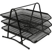 Globox Metal Perfore 3'lü Evrak Rafı Renk - Siyah