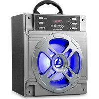 Mikado Md-455 Bluetooth Müzik Kutusu 10W Gri Usb+Sd+Fm Destekli