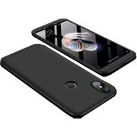 Teleplus Xiaomi Mi A2 Lite 360 Ays Sert Rubber Kapak Kılıf Siyah + Nano Ekran Koruyucu