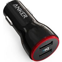 Anker PowerDrive 2 24W 4.8 Amper Araç Şarj Cihazı Siyah - A2310 - OFP
