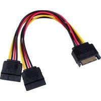 Platoon Sata Power Y Kablo 15 Pin Sata Erkek To 15 Pin Y Dişi Power Kablo
