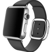 Case 4U Apple Watch Klasik Tokalı Siyah Kayış - 38 mm - 40 mm