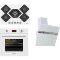 Ferre White Novara Plus Ankastre Set ( BE10 LDG (10001) Beyaz Multifonksiyon + KA013 +B Max )