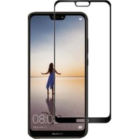 AntDesign 5D Full Glue Tüm Yüzey Huawei P20 Cam Ekran Koruyucu Siyah