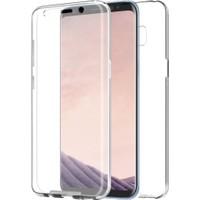 Case 4U Samsung Galaxy S8 Plus Kılıf Tam Full Koruma 360 Clear Soft Şeffaf