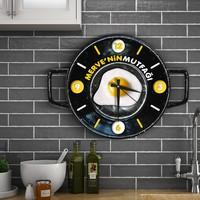 Leydi Collection Kişiye Özel Ahşap Mutfak Duvar Saati - 3