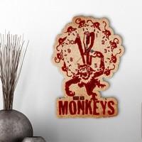 Leydi Collection Kişiye Özel 12 Monkeys Tasarımlı Dekoratif Ahşap Duvar Saati