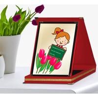 Leydi Collection Kişiye Özel Kırmızı Plaket (Anneler Günü Temalı) 6