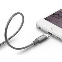 Elago Apple MFI Çelik Örme Lightning Şarj Kablosu - Koyu Gri