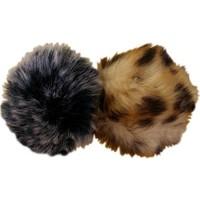 Kedi Oyuncağı İkili Set Leopar Desenli Ve Gri Toplar 7-7 Cm