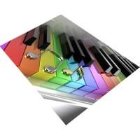Consept Home 1170 Renkli Piano Tuşları 3D Çocuk Odası Halısı 120X180