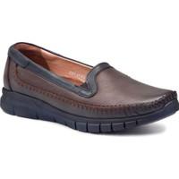 Forelli 29423 Kadın Kahve Deri Comfort Ayakkabı