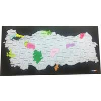 Mapofxb Kazınabilir Türkiye Haritası(Küçük Boy) - Scracth Map