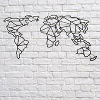 Foccaa Dizayn Dünya Haritası Metal Tablo