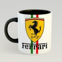Gzd Ferrari Kupa Bardak İçi Siyah Kulpu Siyah