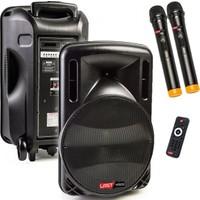 Lastvoice 300 Watt Portatif Taşınabilir Mikrofonlu Hoparlör Sistemi Çift Mikrofonlu