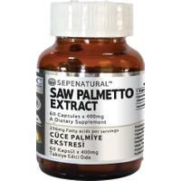Sepe Natural Saw Palmetto Extract 60 Kapsül x 400 mg Cüce Palmiye Ekstrakt