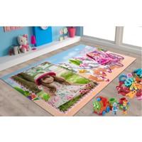 Veronya Barbie Desenli Kaymaz Taban Halı 80x140