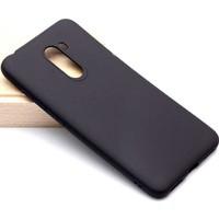 Case 4U Xiaomi Pocophone F1 Kılıf Mat Silikon Arka Kapak - Premier - Siyah