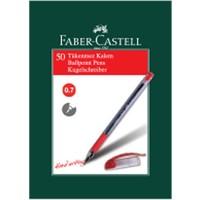 Faber-Castell 1425 İğne Uç Tükenmez Kırmızı 50' li Kutu