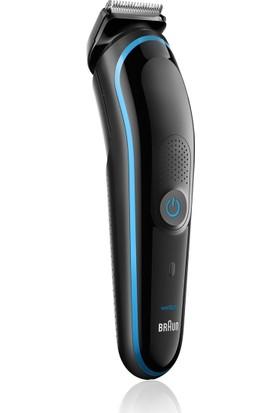 Braun MGK3080 Çoklu Bakım Kiti Siyah/Mavi - Saç ve Sakal Şekillendirme Için Dokuzu Bir Arada Hassas Şekillendirici, 9 in 1