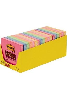 Post-it® Super Sticky Not, Renkli, 18 adet, 76x76mm, 90 yaprak