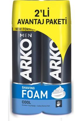 Arko Men Cool Tıraş Köpüğü 2'li Avantaj Paketi (2x200 ml)