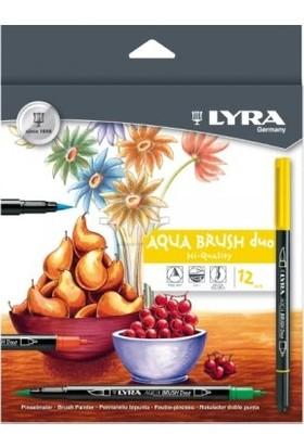 Lyra Aqua Brush Duo 12'li Fırça Uç+İnce Uç Sanatsal Keçeli Kalem L6521120