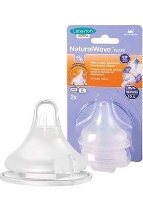 Lansinoh Natural Wave Biberon Emziği 2'li / Orta Akışlı