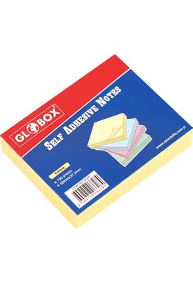 Globox 37.5x50 Mm Sarı 100 Yaprak Yapışkanlı Not Kağıdı