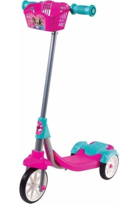 Barbie Silikon Tekerli Frenli Scooter