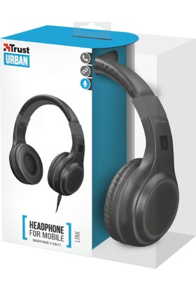 Trust Urban 22235 Akıllı Telefon ve Tabletler İçin Katlanabilir Kulaküstü Kulaklık (Siyah)