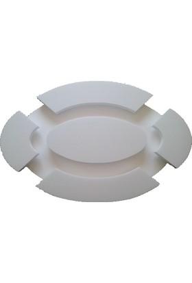 Propiyer Ledli Spotlu Tavan Göbeği - Oval 80 cm