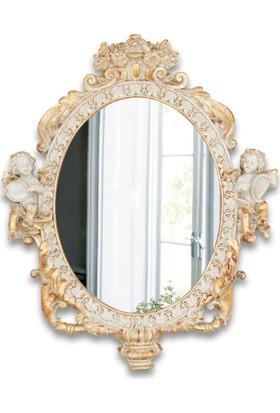 Madame Coco Melekli Oval Ayna - Bej