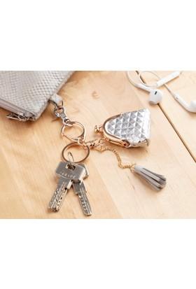 Madame Coco Çanta Figürlü Anahtarlık - Gümüş