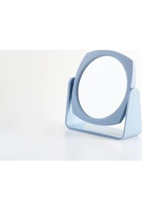Madame Coco Çift Yüzlü Makyaj Aynası - Mavi