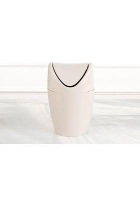 Madame Coco Set Üstü Çöp Kovası - Taş