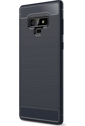 Kny Samsung Glaxy Note 9 Kılıf Ultra Korumalı Room Silikon + Full Body Jelatin - Lacivert