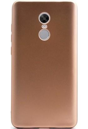 Kny LG K11 Kılıf Ultra İnce Mat Silikon + Cam Ekran Koruyucu - Gold