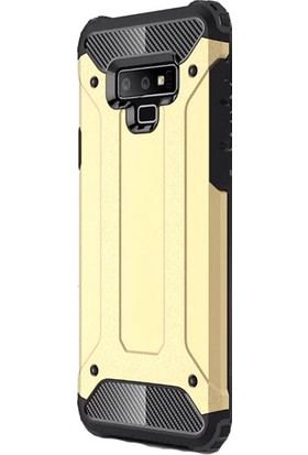 Kny Samsung Galaxy Note 9 Kılıf Çift Katmanlı Armour Case - Gold