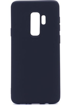 Kny Samsung Galaxy J8 2018 Kılıf Ultra İnce Mat Silikon + Nano Cam Ekran Koruyucu - Lacivert