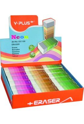 Y-Plus EX1109 Neon Küçük Silgi 6 Adet