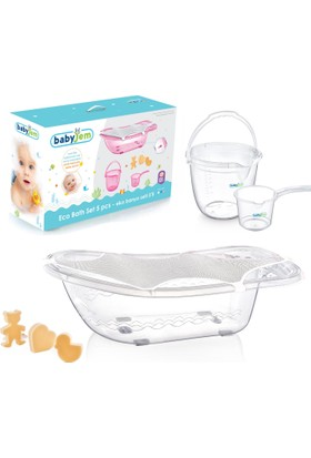 Babyjem Bebek Banyo Seti 5 Parça Beyaz