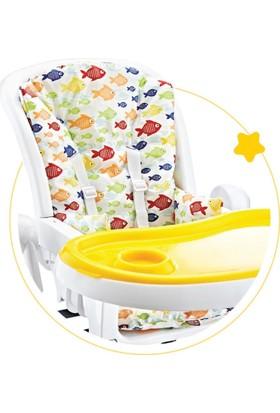 Babyjem Mama Sandalyesi Minderi Kaplamalı Balık Desen